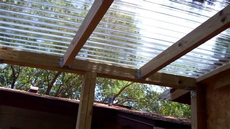 Attached Carport Pictures by Paint Room Build Polycarbonate Roof 2 Youtube