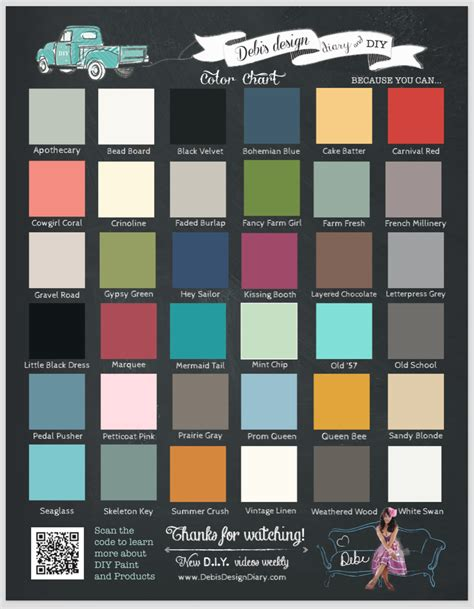 diy paint color schemes printed color charts pack of 100 debis design diary