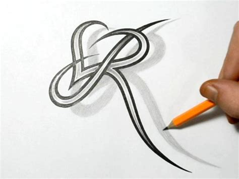 tattoo letter r design stylish images letter r letter r and combined