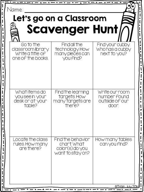 The 25 Best Classroom Scavenger Hunt Ideas On Pinterest