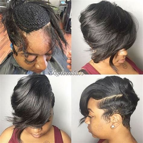Short Black Hair Sew Ins | the 25 best short sew in hairstyles ideas on pinterest