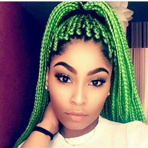 colored braids best 25 colored box braids ideas on blue box