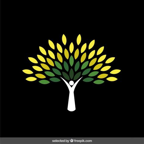 tree logo vector free abstract green tree logo vector free