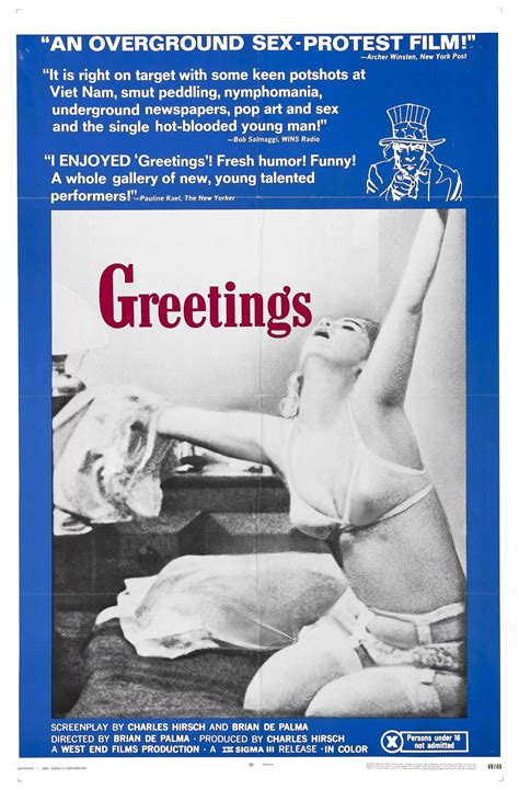 Greeting Poster poster for greetings 1968 usa wrong side of the