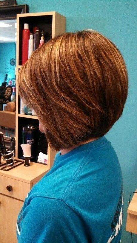 stacked bob haircut wavy hair images