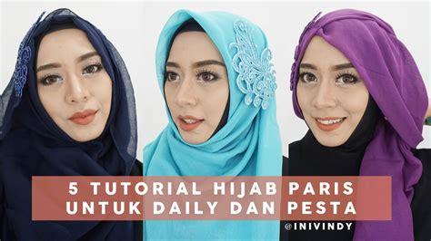 Tutorial Hijab Segi Empat Inivindy | 5 tutorial hijab segi empat paris untuk sehari hari dan