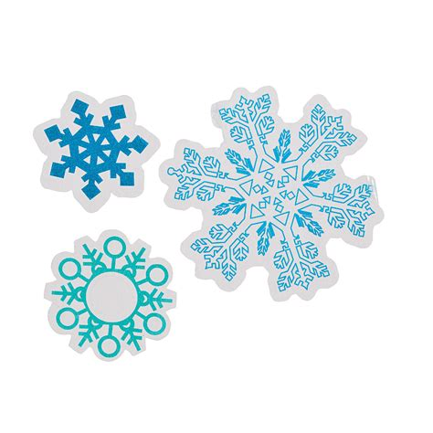 printable snowflake stickers clear snowflake sticker sheets oriental trading