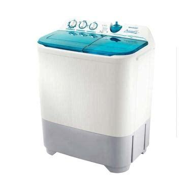 Mesin Cuci 2 Tabung Hemat Listrik jual sharp es t95cr mesin cuci 2 tabung harga