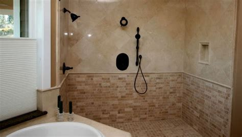 Of In The Shower by Touch 187 Travertine Shower