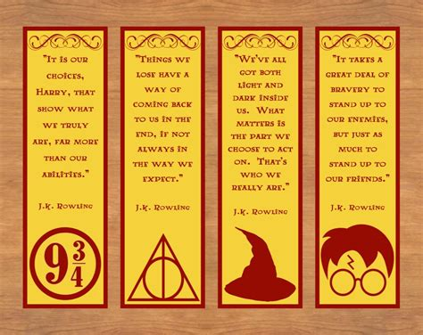 printable bookmarks with quotes printable bookmarks with harry potter quotes world of