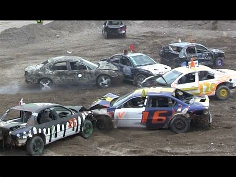 2016 demolition derby smash up for ms small car final