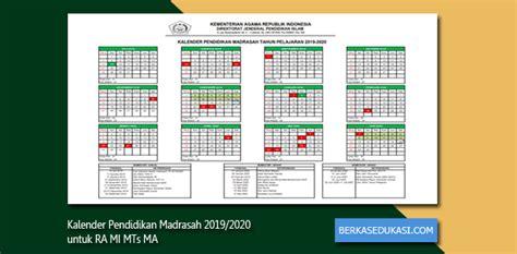 kalender pendidikan madrasah    ra mi mts ma berkas edukasi