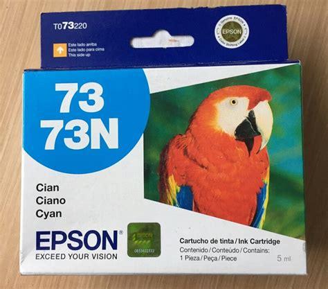 Tinta Epson 73n Bcmy Original cartucho de tinta original epson 73n cyan t073220 250