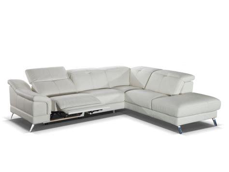 divani a 100 divano angolare relax 100 pelle sardaigne ii avorio o nero