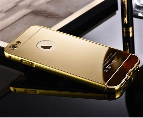 Bumper Mirror Iphone 5s G Gold 24k gold for iphone 6 6 plus gold metal mirror