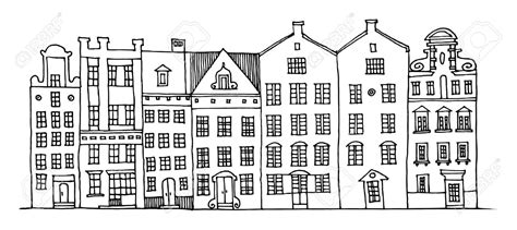 drawing cartoon houses house illustration black and white google search refs