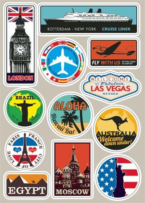 Car Sticker Drucken by Ber 252 Hmte Aussichtspunkte Vintage Aufkleber Auf Laptop