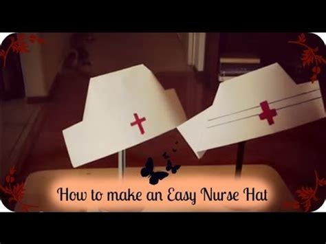 how to fold a nurses hat nurses and hats how to make an easy nurse hat youtube