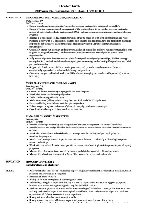 Channel Marketing Manager Sle Resume by Marketing Officer Sle Resume Sle Resume Manager Sle Cover Letter For Application