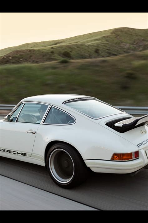 singer porsche iphone wallpaper 640x960 white singer porsche 911 side road iphone 4 wallpaper