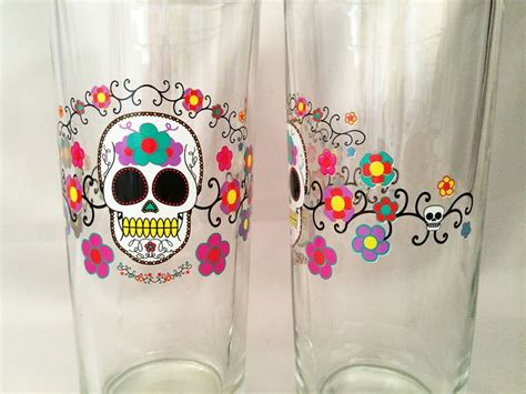 skull barware vintage halloween sugar skull barware drinking glasses