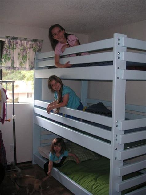 triple bunk bed plans loft beds  bunk beds buying