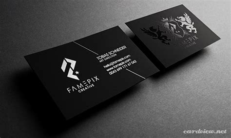 great business card black and silver template free 40 ejemplos de creativas y elegantes tarjetas de