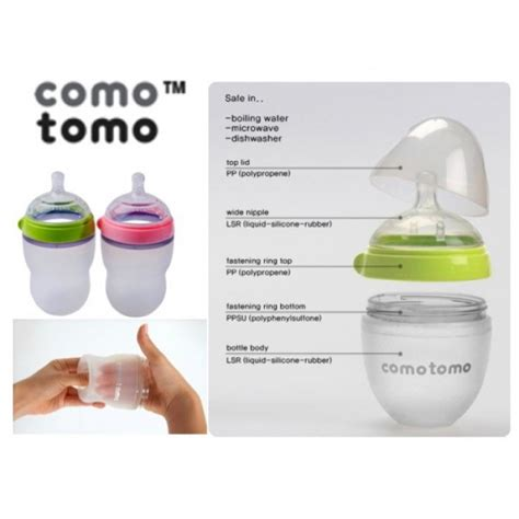 Comotomo Soft Hygienic Silicone Baby Botol 150ml With Flow 1 comotomo feel baby bottle 250ml 1pc