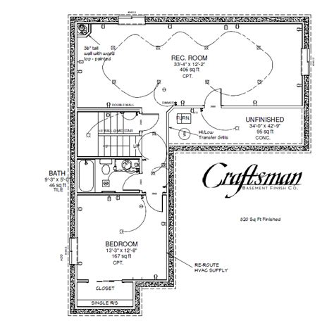 Basement Floor Plan Basement Floor Plan 3 Craftsman Basement Finish