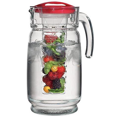 Infuser Waterjug Teko Infused Water Gelas home essentials beyond 64 oz glass pitcher with infuser bed bath beyond