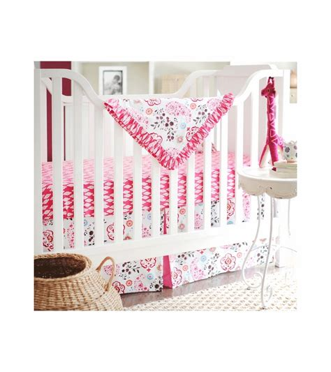 4 crib bedding set new arrivals penelope in pink 4 baby crib bedding set
