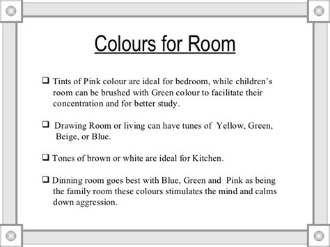 vastu tips for home colours