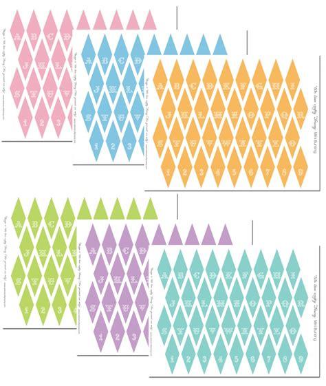 printable mini bunting flags mini bunting free printables party ideas pinterest