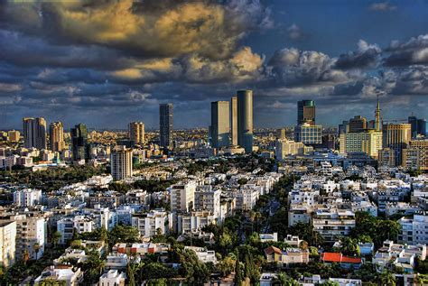 tel aviv skyline tel aviv skyline fascination photograph by ron shoshani