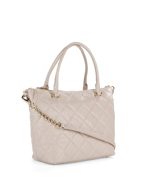 Erva Quilted Leather Bag by Kate Spade Quilted Leather Shoulder Bag In Beige
