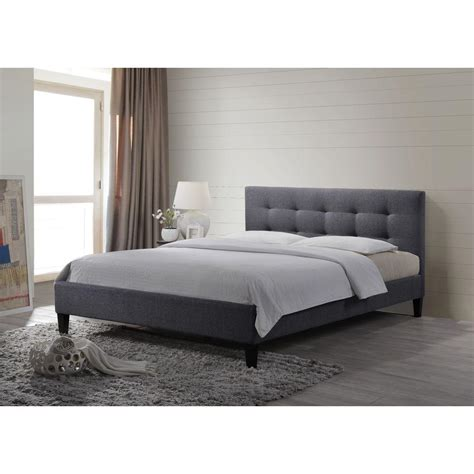 grey upholstered queen bed pri all in 1 gray queen upholstered bed ds 2223 290 the