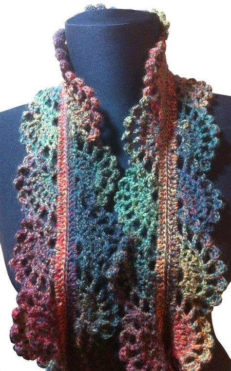 pattern for lace yarn filigree lace sock yarn skinny scarf crochet pattern