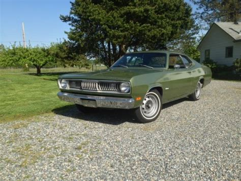 S77 Metallic Green seller of classic cars 1971 plymouth duster gf3 sherwood metallic gf7 sherwood green
