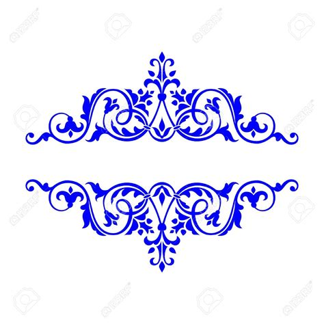 blue outline clipart frames and borders clipartfest