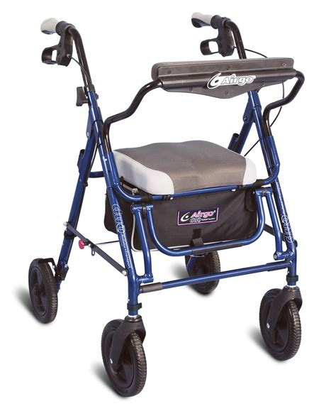 airgo comfort plus transport chair airgo 174 duo rollator transport feature indigo blue