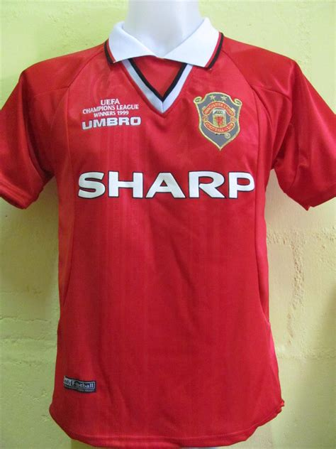 Jersey Manchester United Home 1998 1999 Ucl manchester united home jersey chions league 1999