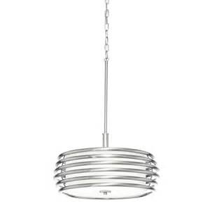 Brushed Nickel Chandelier Lighting Shop Kichler Lighting Bands 17 99 In Brushed Nickel Single