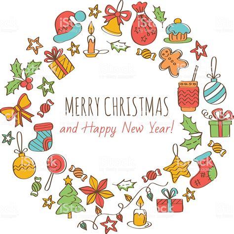 Merry And Happy New Year merry and happy new year greeting card stock
