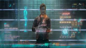 Peter quill aka star lord showing off the finger