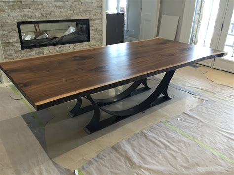 live edge black walnut dining table free shipping by