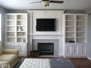 Painted Billy Bookcase Before Amp After Built Ins With Tv In One Bookcase And