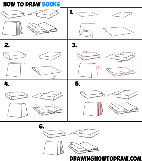 how to draw paint cars books how to draw books in 4 different angles perspectives