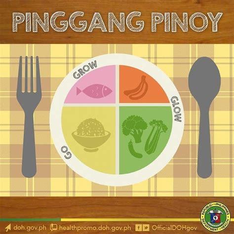 planning go and grow pinggang pinoy filipino food plate go glow grow