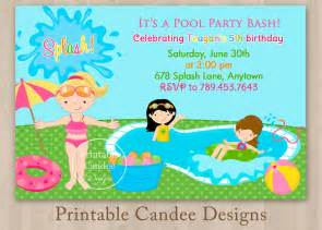 free printable invitation templates pool party pool party invitations for kids free printable pool