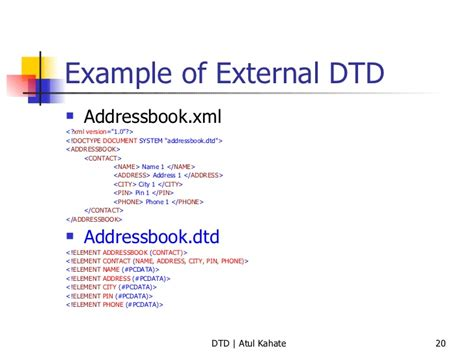 xml tutorial with dtd what are different attributes and entities in dtd while